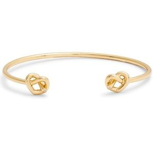 NWT Kate Spade Loves Me Knot Cuff bracelet, Gold